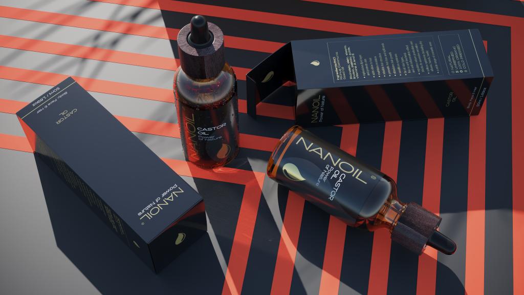 Nanoil Rizinusöl in der Haarpflege